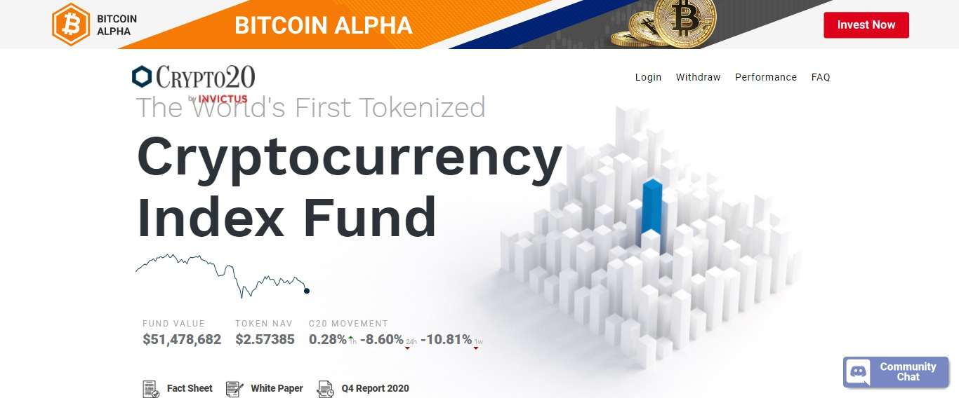 Crypto20.com Ico Review: The World's First Tokenized Cryptocurrency Index Fund