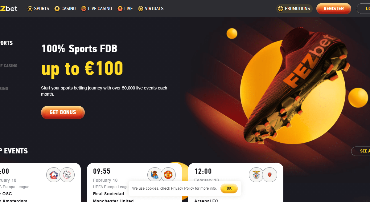 FEZbet Casino Review : 100% Sports FDB Up To 100