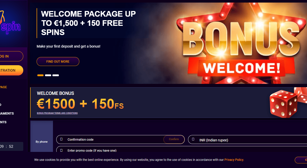 JVSpin Casino Review : 50% + 35FS A Second Deposit of at least €15