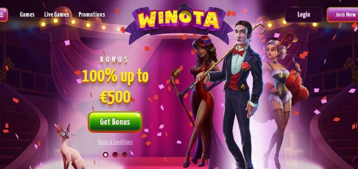 Winota Casino Review: Bonus 100% Up To 500 Euro