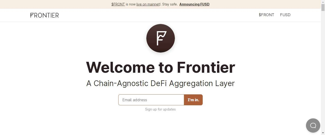 Frontier Defi Coin Review : A Chain-Agnostic DeFi Aggregation Layer