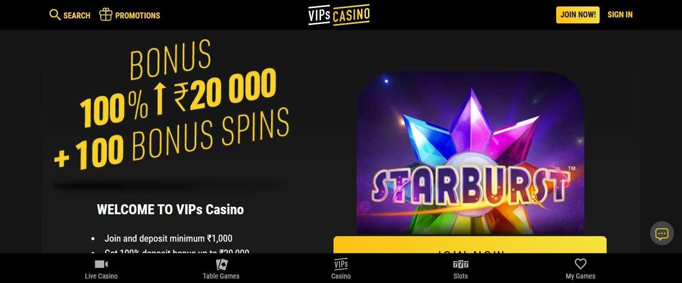 Vipscasino.com Casino Review: Get 100% Deposit Bonus up to ₹20,000