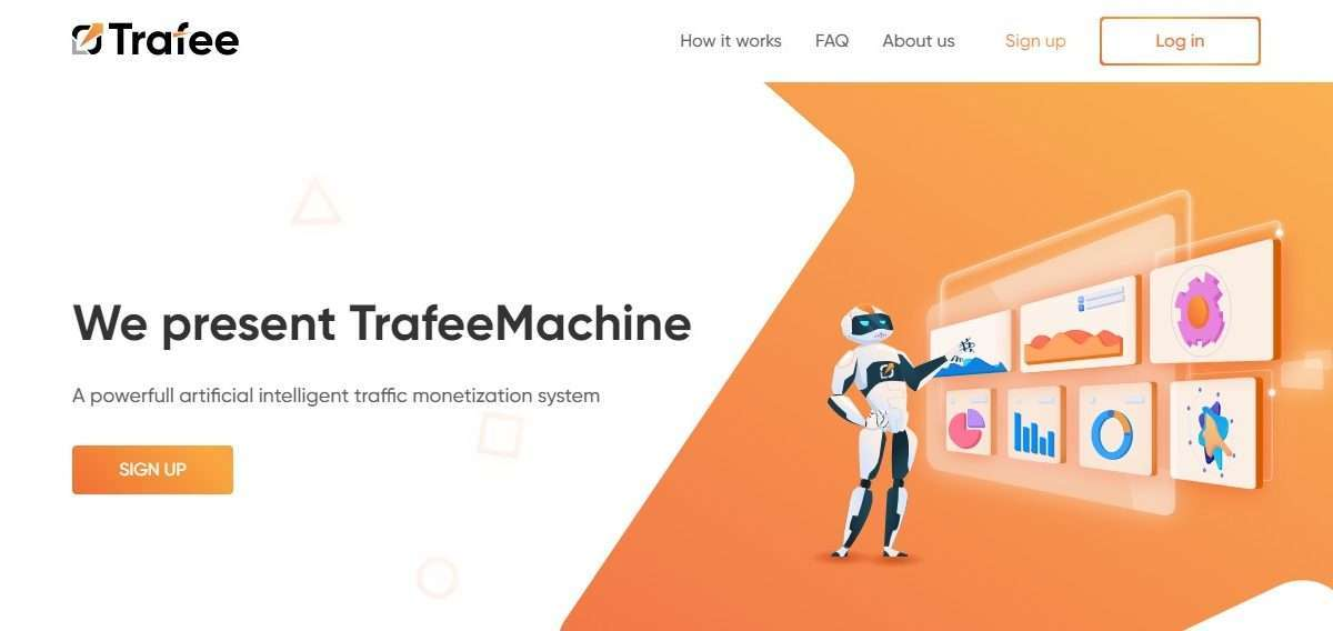 Trafee Advertising Network Review : A Powerfull Artificial Intelligent traffic Monetization System