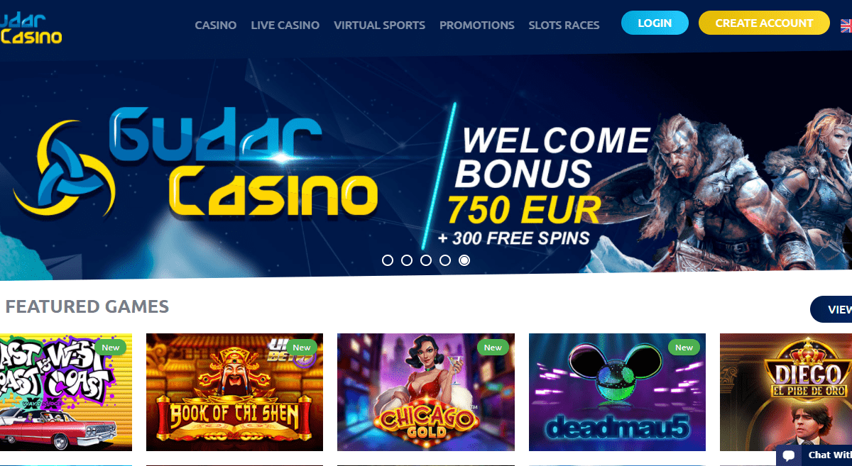 Gudar Casino Review :There are 3505 More Games for You to Play