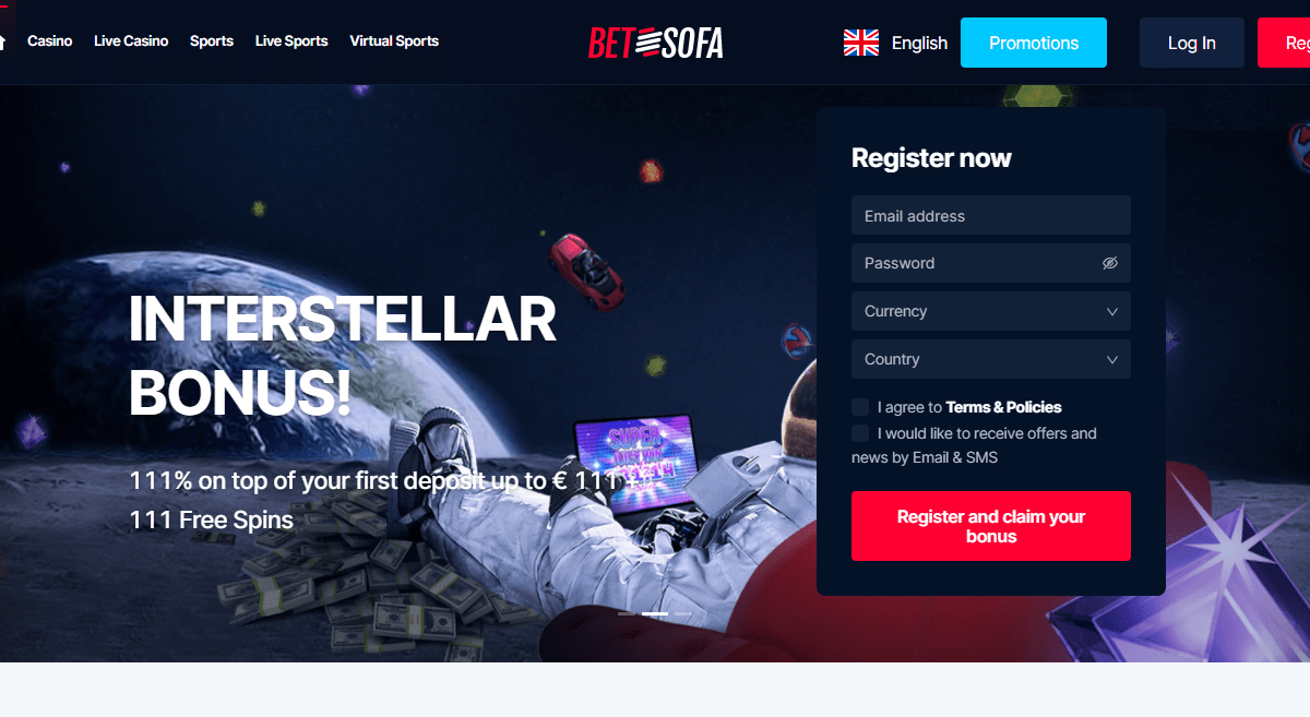 Betsofa Casino Review : 111% on Top of Your First Deposit up to € 111 + 111 Free Spins