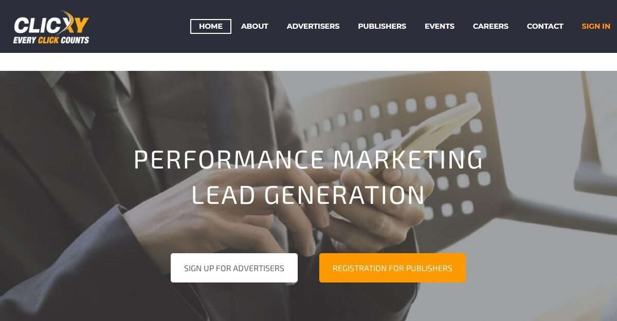 Clicxy.com Affiliate Network Review: Performance Marketing Lead Genertion