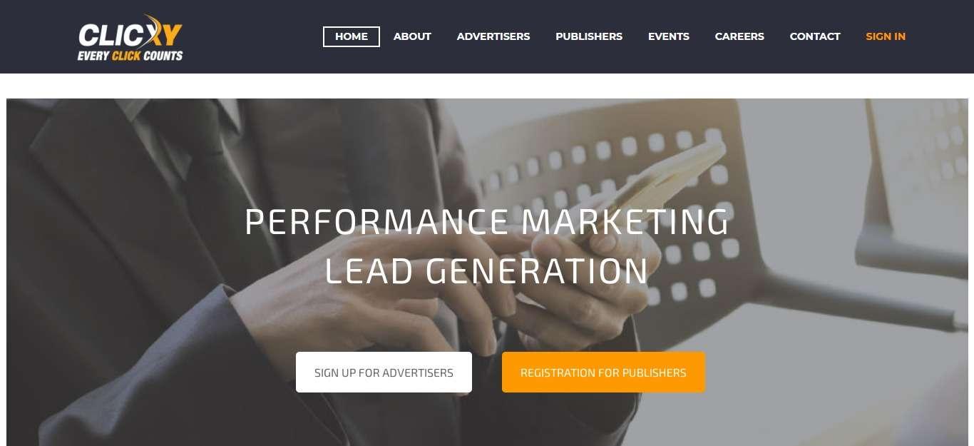 Clicxy.com Affiliate Network Review: Performance Marketing Lead Genertion