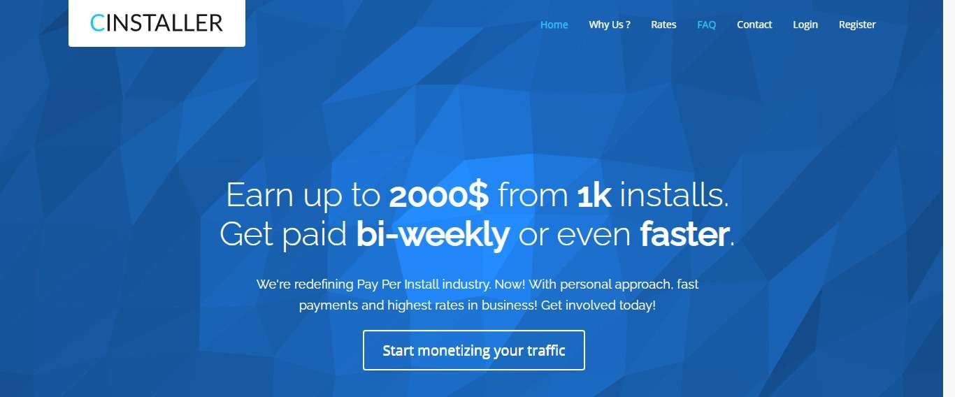 Cinstaller.com Affiliate Network Review: Earn up to 2000$ from 1k Installs