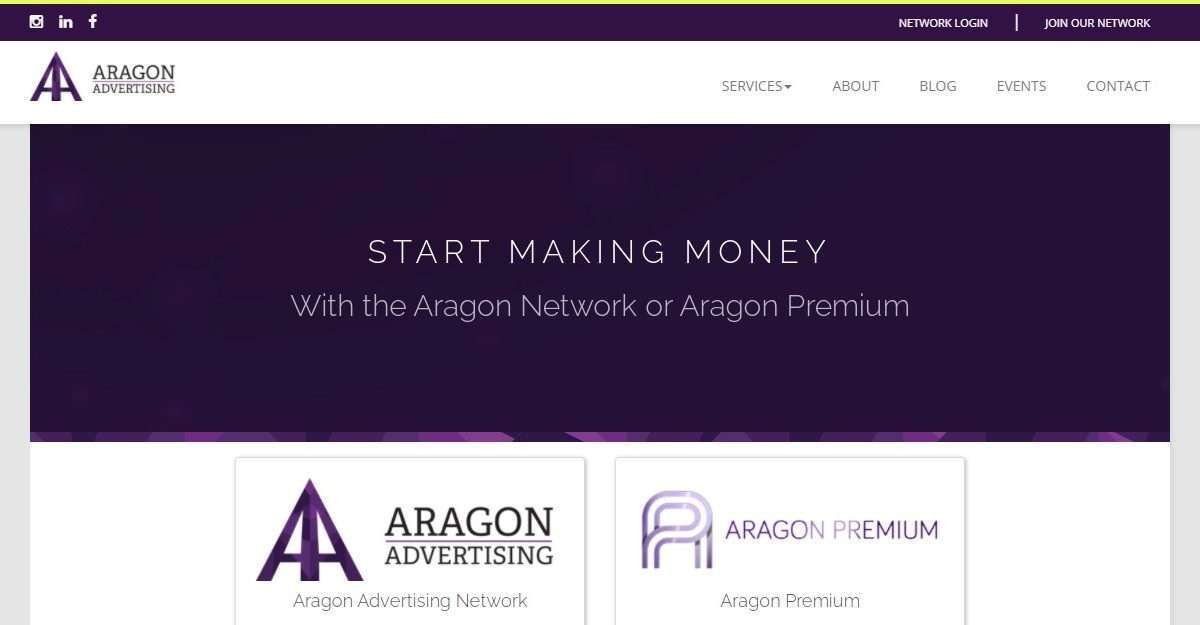 Aragon-advertising.com Affiliate Network Review: With the Aragon Network or Aragon Premium