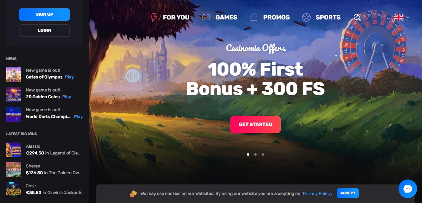 Casinomia.com Casino Review : Convenient and Reliable Payments
