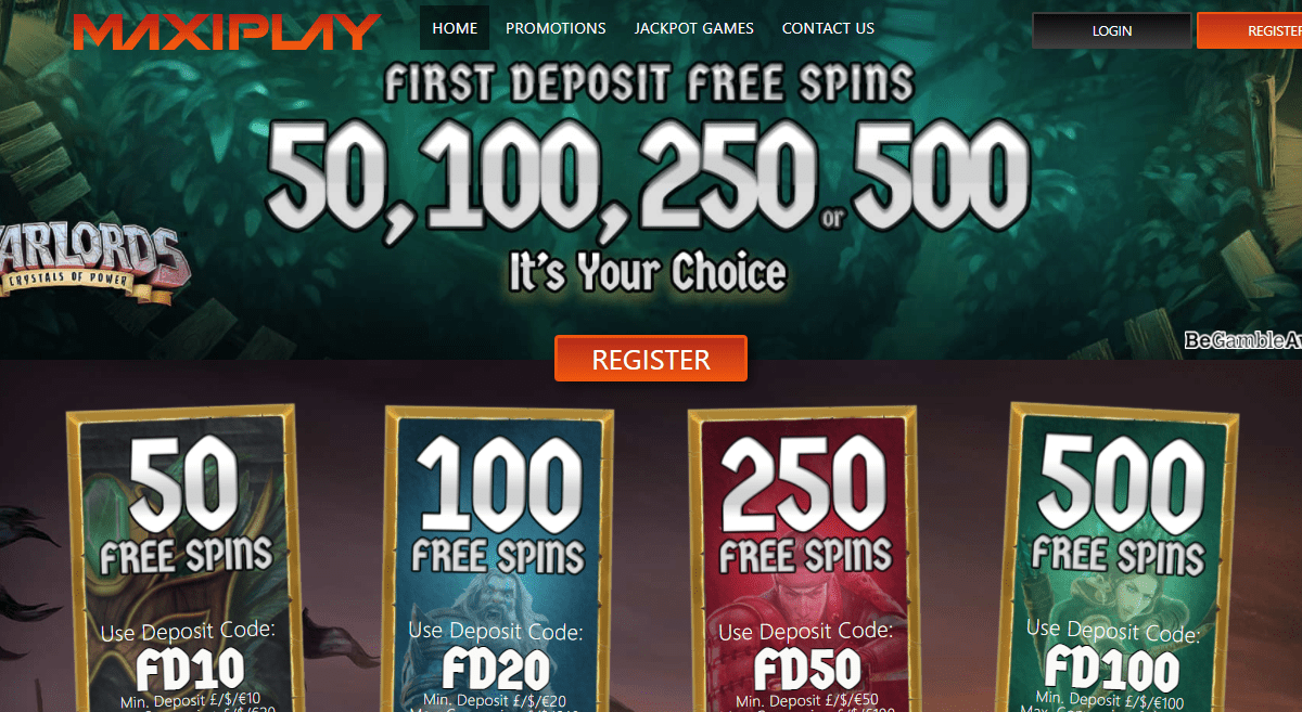 Maxiplay.com Casino Review : Its Your Choice
