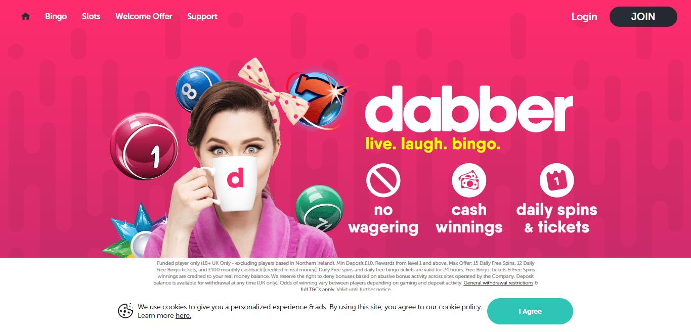 Dabber Bingo Casino Review : Claim 105 Free Bingo Tickets & 10 Free Spins