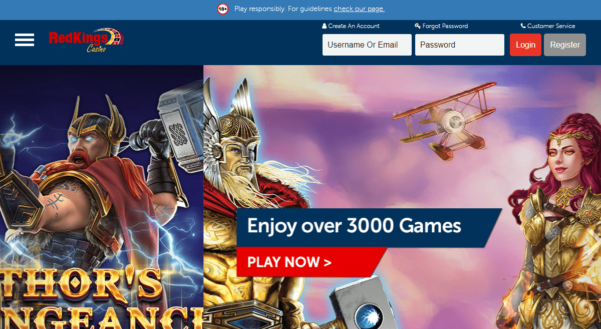 Redkings.com Casino Review : Lock and Load Play Now