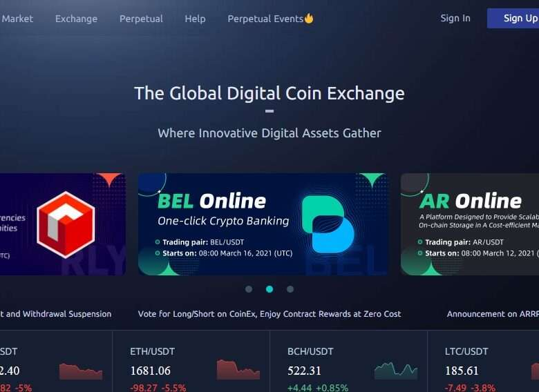 Coinex.com Cryptocurrency Exchange Review: Explore The Crypto World With CoinEx