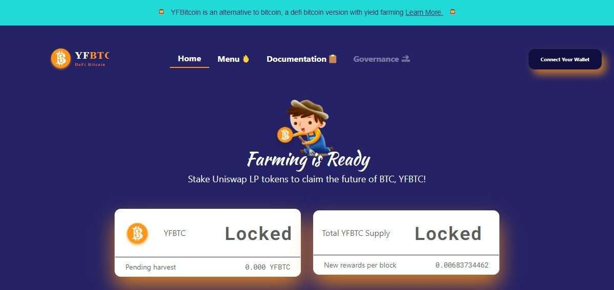 By yield farming on YFBTC.net users will be able to earn YFBTC rewards for each new block. The creation is pegged at 21,000 total supply, with halving every 6 months for the next 4 years. This is to be distributed proportionally among all the participants in the pool. Rewards to users are further enhanced by dynamic multipliers that reduce with increased participation. Currently, YFBTC/ETH pair has the highest reward multiplier of 5.0x as compared to BITTO/ETH, RenBTC/ETH, wBTC/ETH pairs, and other stakings.