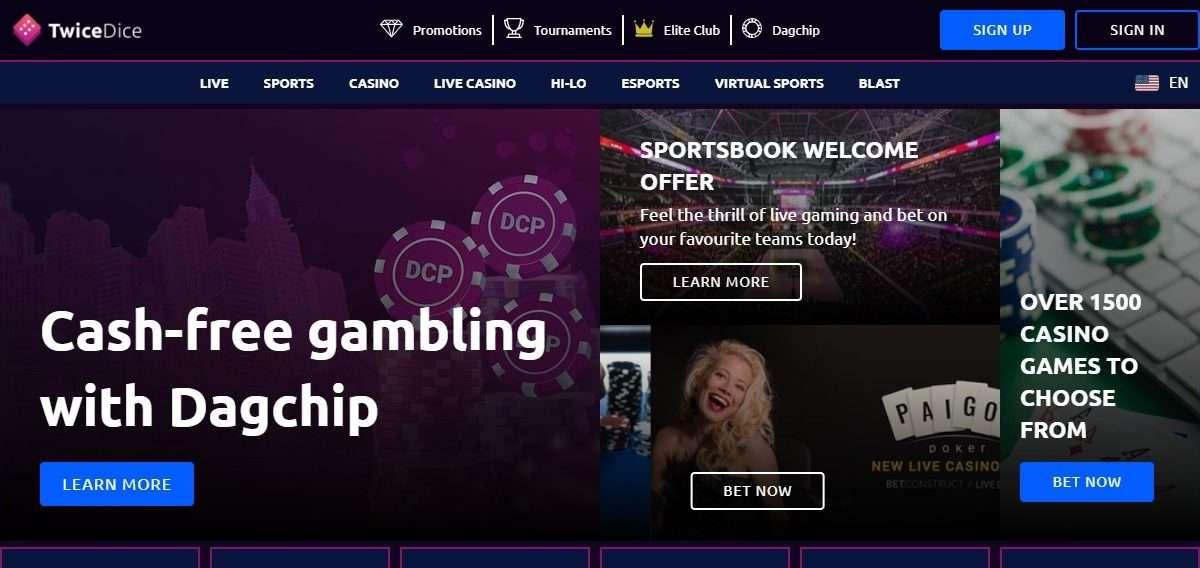 Twicedice.com Casino Review: Get 5% on Top of your Welcome bonus