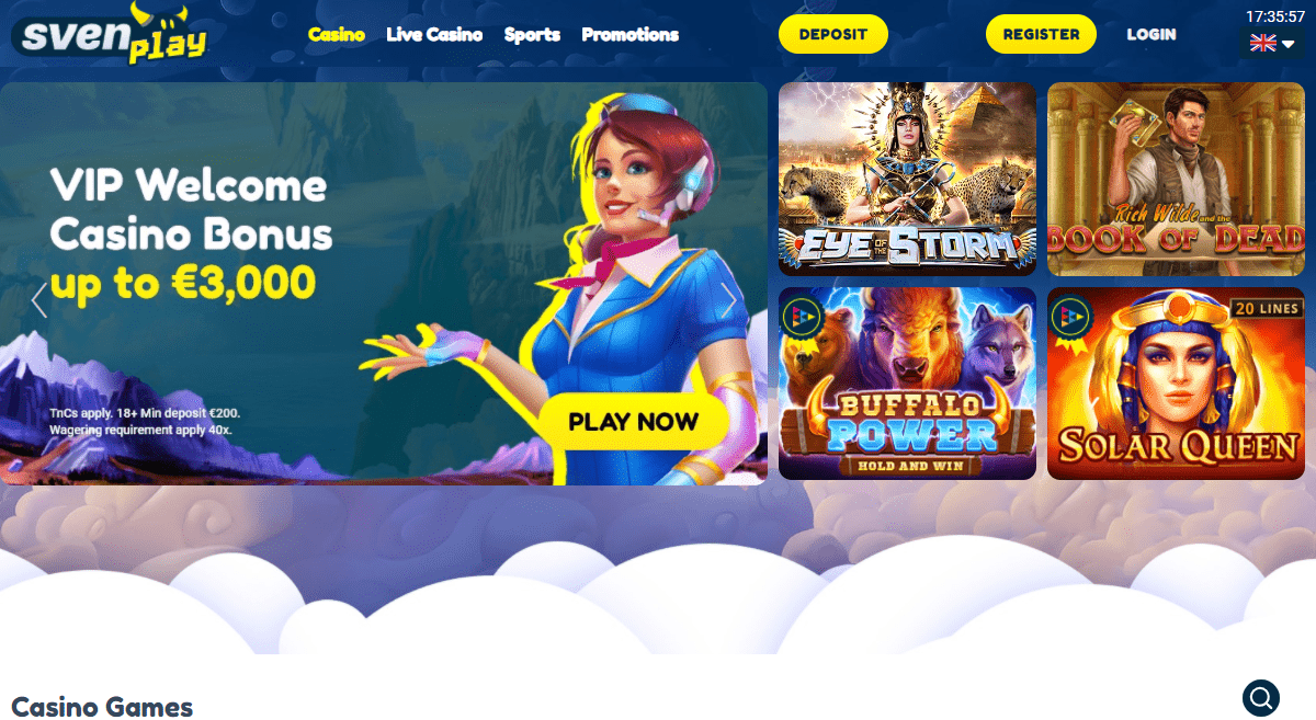 Sven-play.com Casino Review : Eye of the Storm