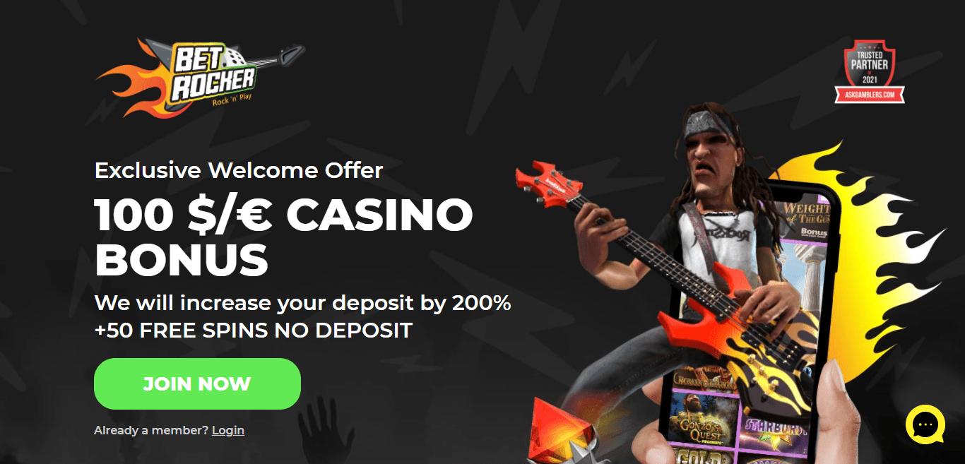 Betrocker.com Casino Review : 100 $/€ Casino Bonus