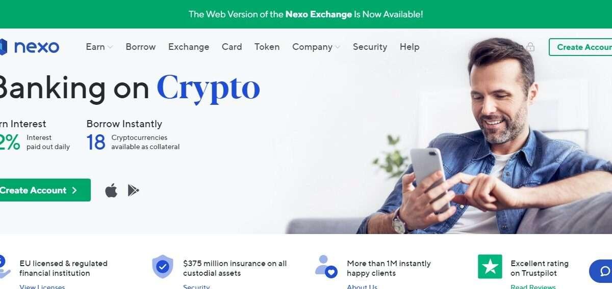 Nexo.io Coin Review: Guide About Nexo.io