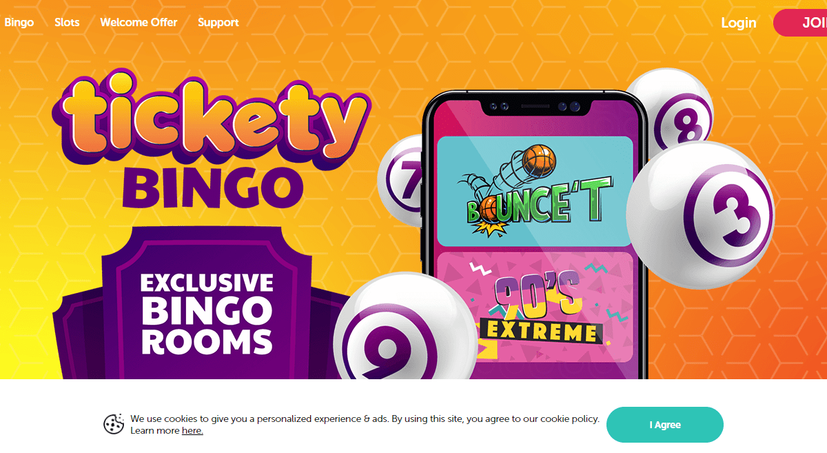 Ticketybingo.com Casino Review : £10 Bingo Bonus, 5 Free Bingo Tickets & 20 Free Spins