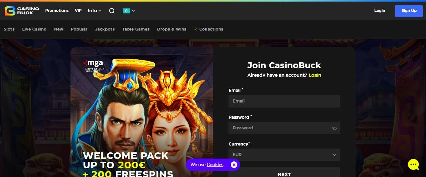 Casinobuck.com Casino Review: Welcome pack Up To 200 Euro + 200 Free Spins