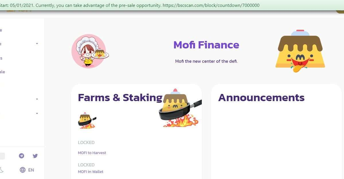 Mofi.finance Airdrop Review: Mofi The new Center of the Defi.