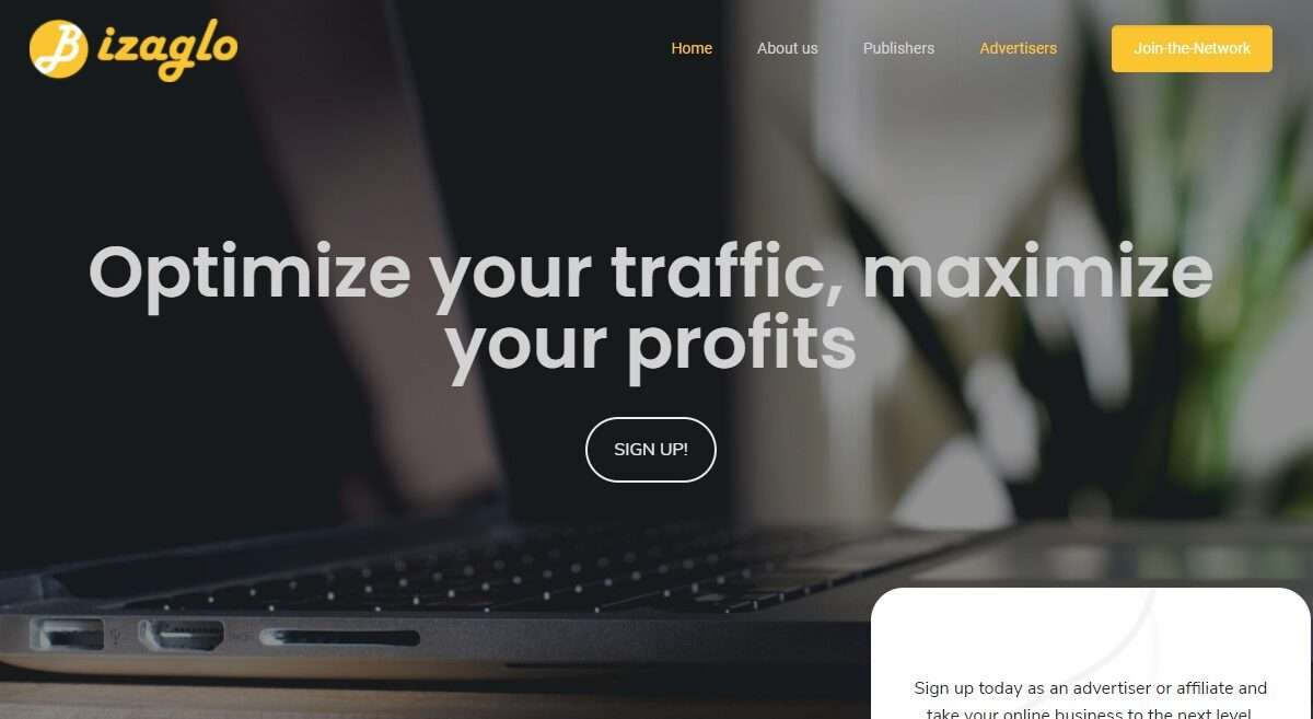 Bizaglo.com Advertising Review : Bizaglo is a Performance Based Affiliate Marketing Network