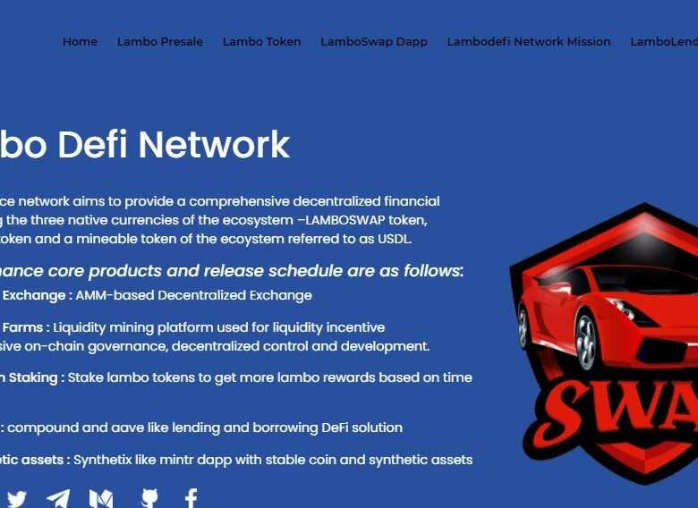 Lambo Defi Network Ico Review: AMM-based Decentralized Exchange