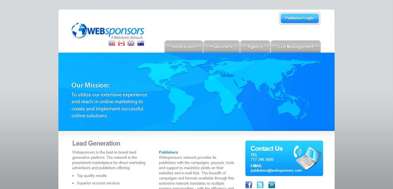 Websponsors.com Advertising Review : Superior Account Services