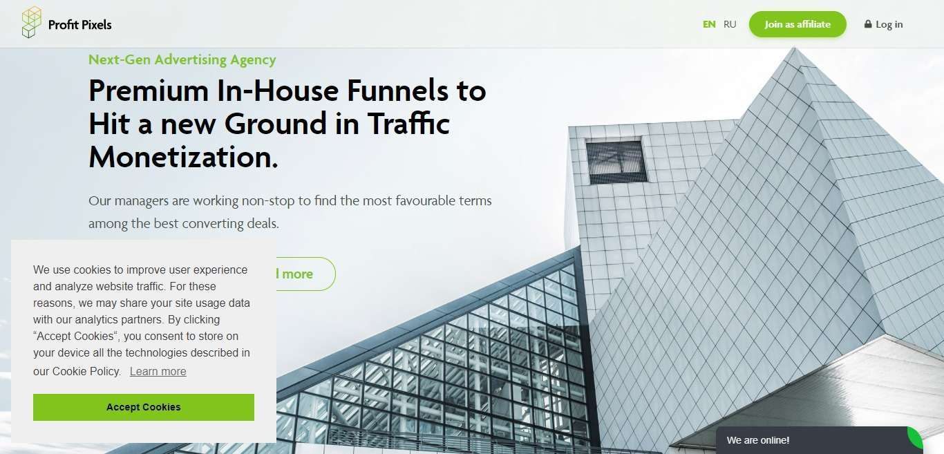 Profit Pixels Advertising Review : Premium In-House Funnels to Hit a new Ground in Traffic Monetization