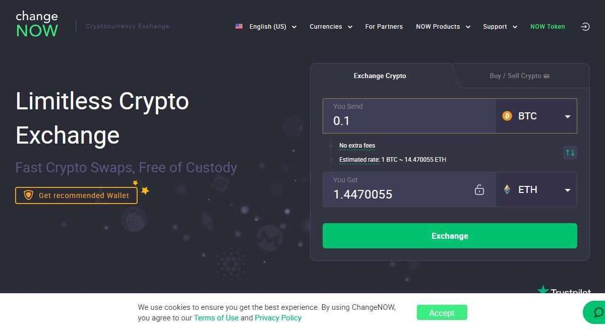 Changenow Advertising Review : Limitless Crypto Exchange