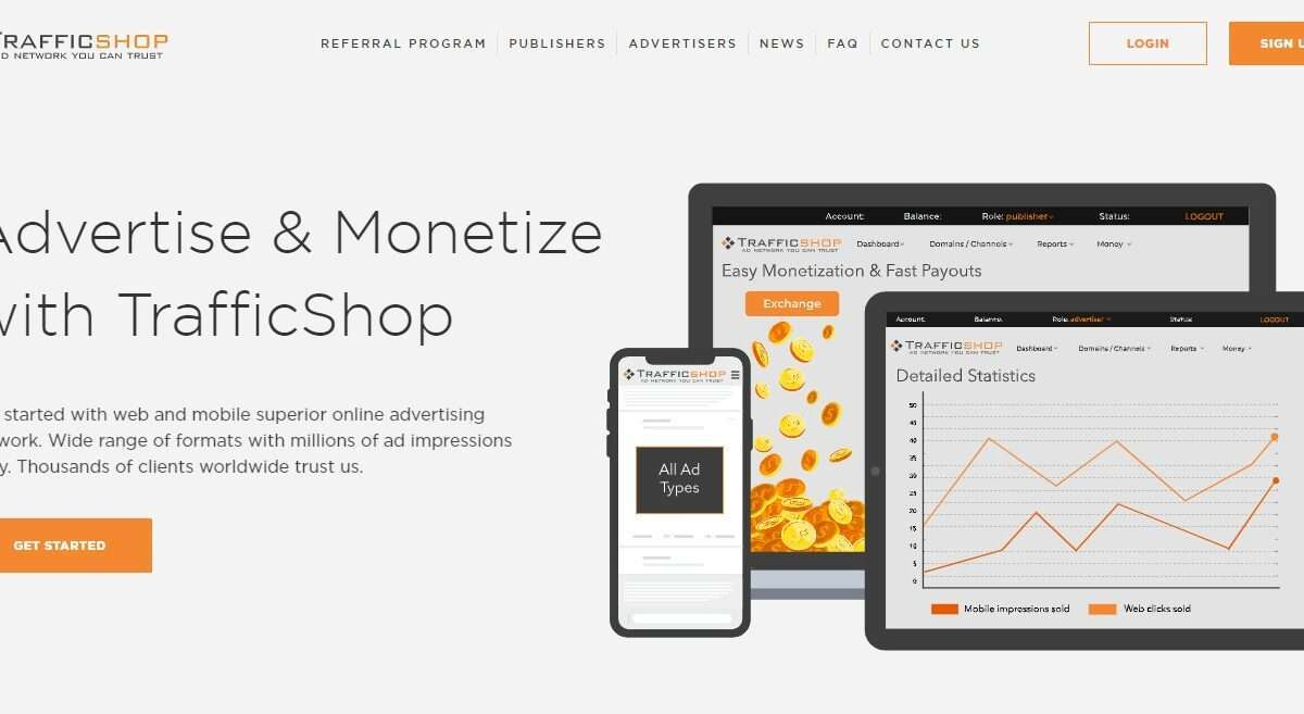 Trafficshop.com Advertising Review : Advertise & Monetize with TrafficShop
