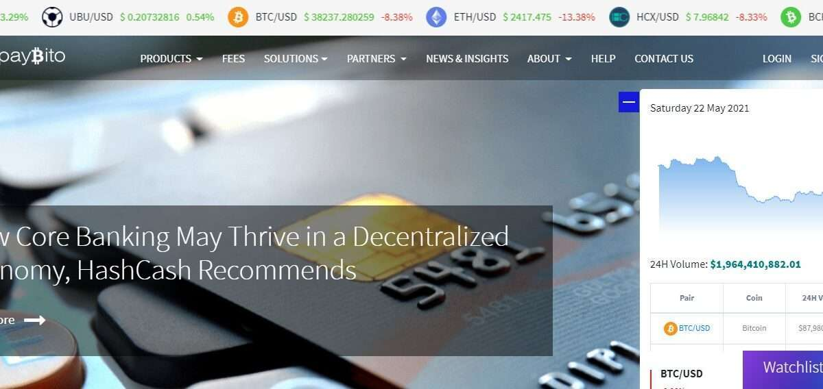 PayBito Exchange Review : Facilitates 24/7/365 Trading.
