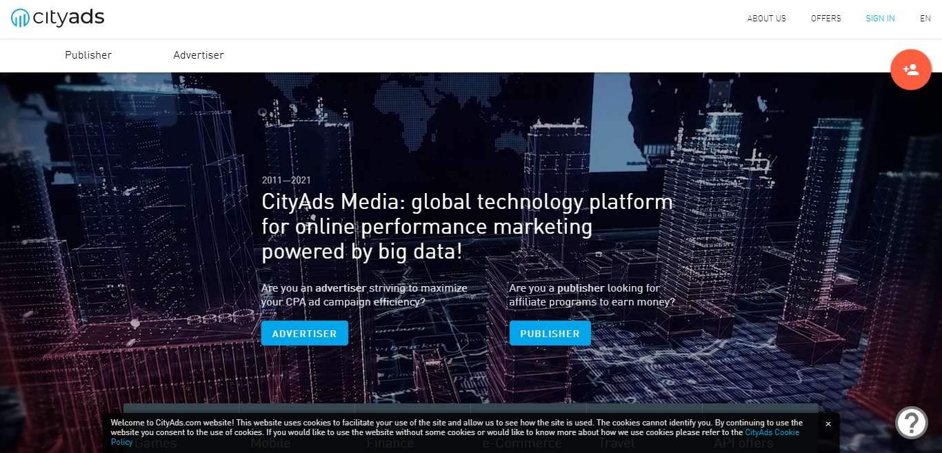 Cityads.com Advertising Review : Global Technology Platform for Online Performance Marketing Powered by Big Data!