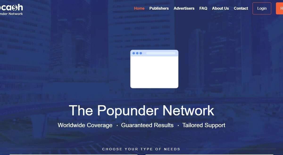 Popcash.net Advertising Review : The Popunder Network
