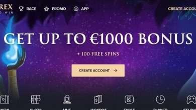 Casinorex.com Review: Get Up To Euro 1000 Bonus + 100 Free Spins