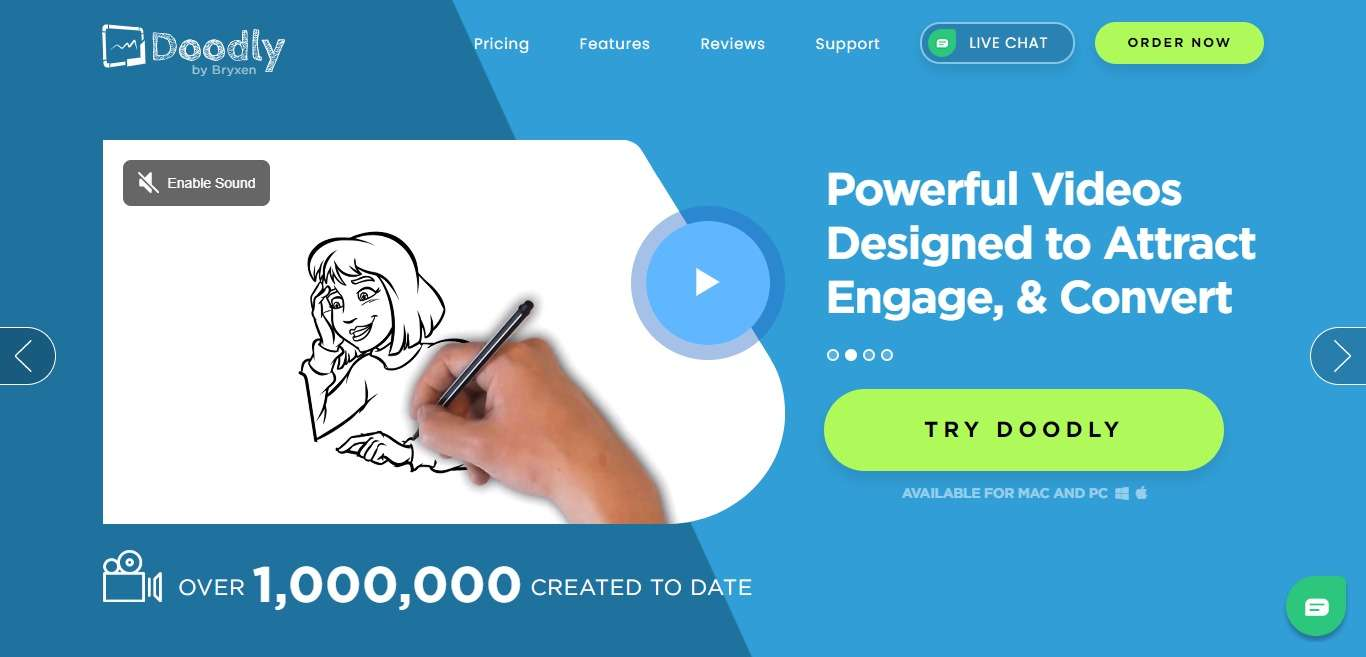 Doodly Advertising Review : 50% Commission Per Sale