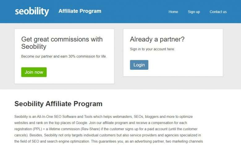Seobility Advertising Review : €0.5 per lead, 30% Recurring Commission