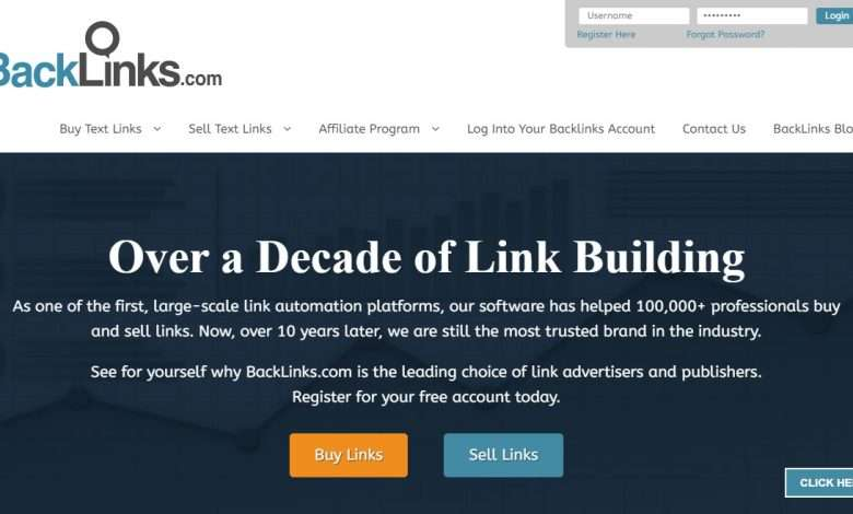 BackLinks.com Advertising Review : $100 for each qualified advertiser, $25 for each qualified publisher