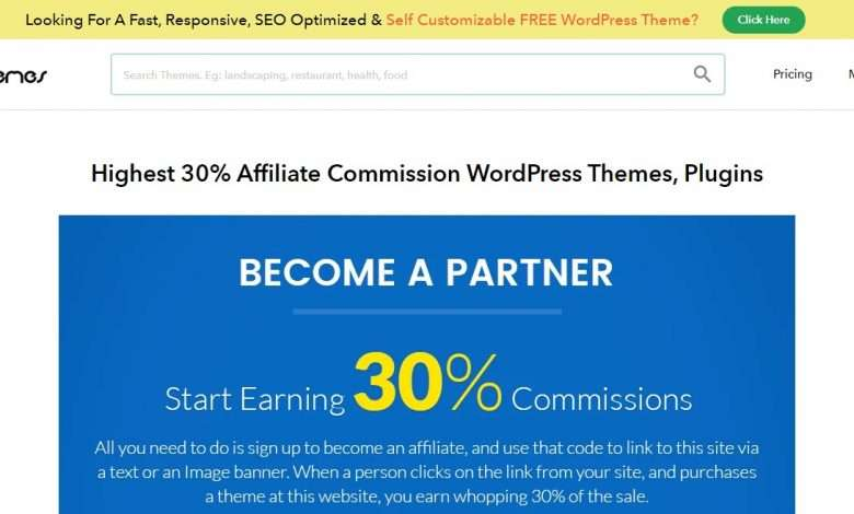InkThemes Advertising Review : 30% Recurring Commission on Each Sale