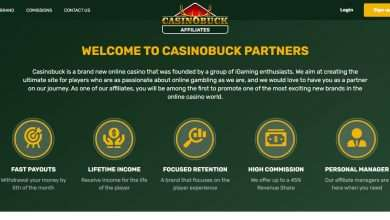 Casinobuck Partners Advertising Review : 30% - 45% recurring revenue share