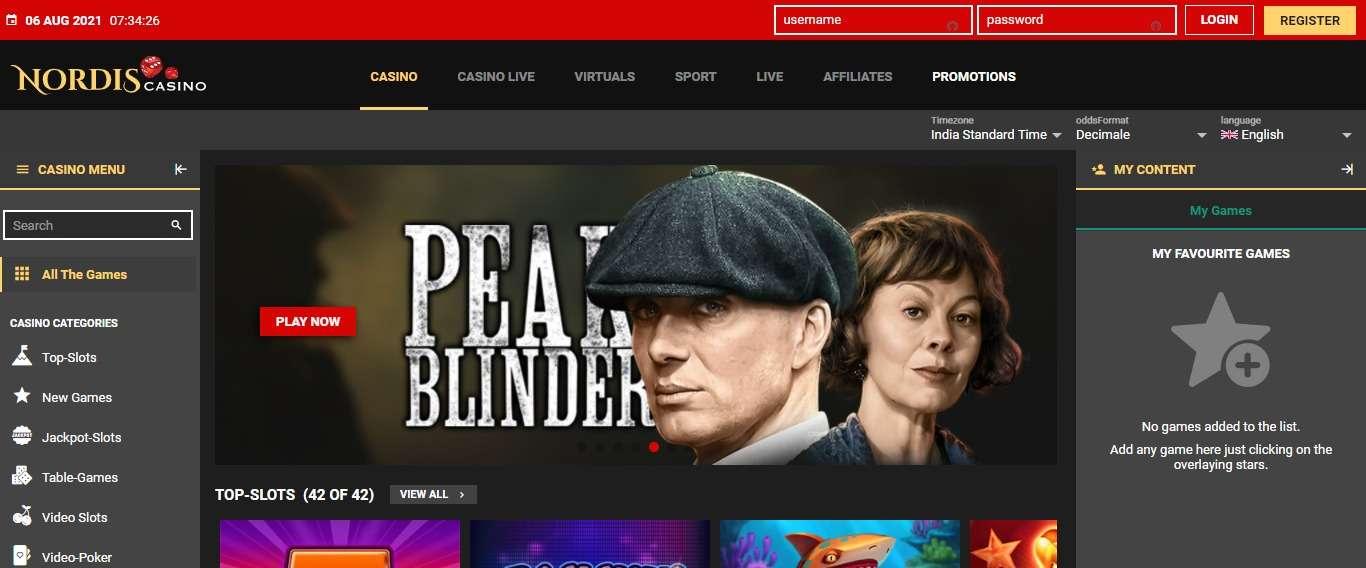 Nordiscasino.com Review: 100% up to €700 Casino Bonus