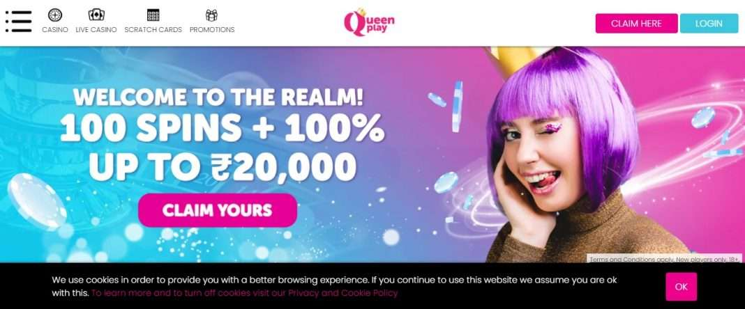 Queenplay.com Casino Review: Get Earn 1005 Spins + 100 up To Euro 20000