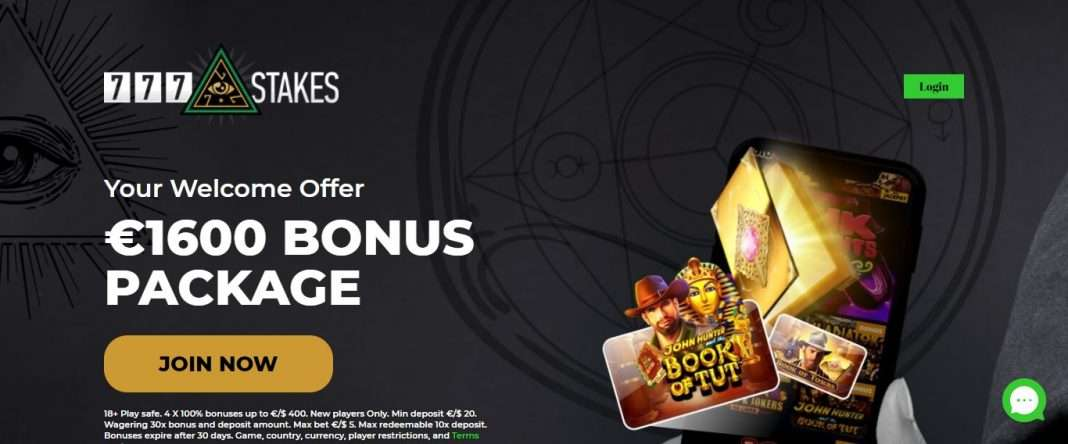 777Stakes Casino Review: Your Welcome Offer €1600 Bonus Package